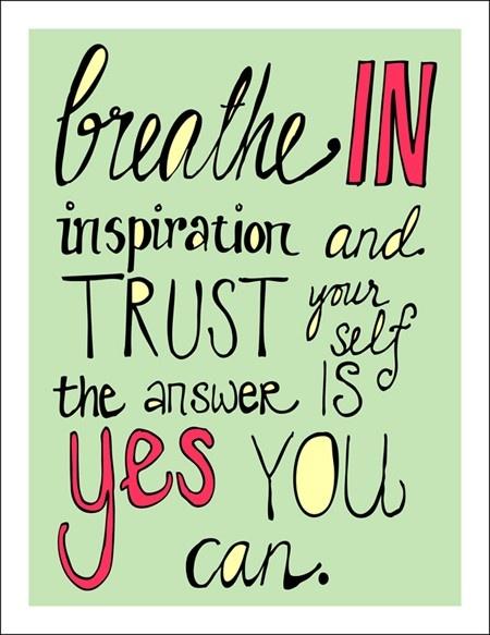 breathe in inspiration
