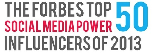 Forbes Top 50 Social Media Power Influencers of 2013