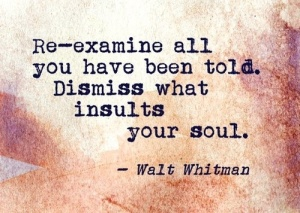 re-examien all you have been told quote